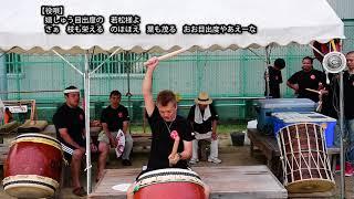 鳥出神社の鯨船行事 北島組 太鼓の練習