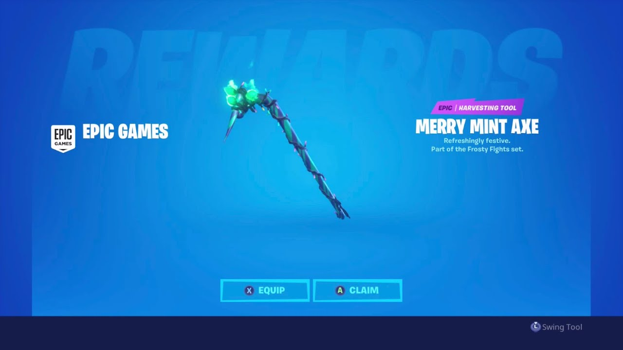 NEW FORTNITE MINTY AXE REVIEW - YouTube