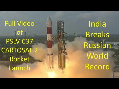 ISRO Satellite Launch Video | Record 104 Satellites On Board