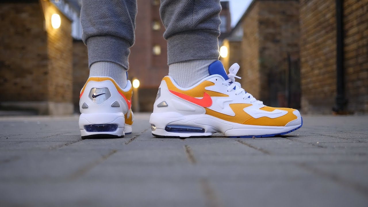 Nike Air Max2 Light Quick Look   On Feet (University Gold) - YouTube cd4216ea9