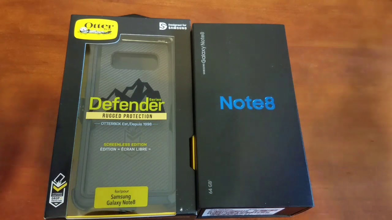 new concept 74fda 971ac Putting Otterbox Defender case on Samsung Galaxy Note 8!