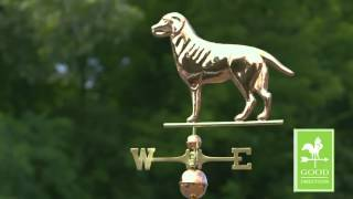 Good Directions 560p Labrador Retriever Weathervane   Polished Copper 1)