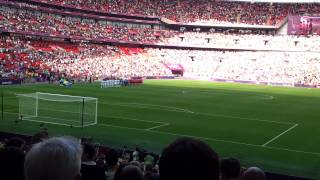South Korea National Anthem - Olympic 2012 Wembley South Korea vs Gabon