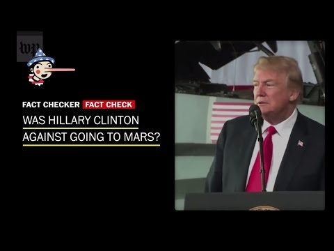Fact Check: Was Hillary Clinton against going to Mars?
