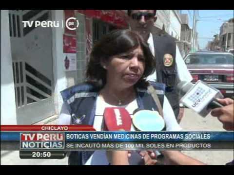 Chiclayo: boticas vendían medicinas de programas sociales