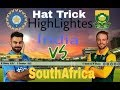 SOUTH AFRICA VS INDIA BIG MATCH ( DANE PETERSON 5 wickets in an OVER IN WCC)21/2/2018