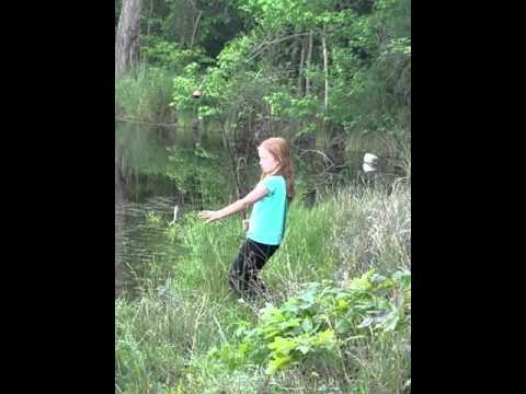 McKenzie fishing like a pro.