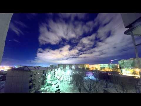 маломерное северное сияние в северной части города(читать описание)