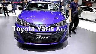 New Toyota Yaris Ativ 2018,Blue colour, Exterior and Interior