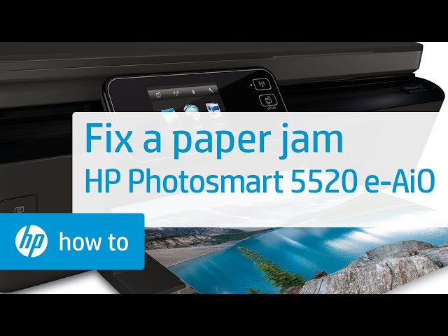 Fixing a Paper Jam | HP Photosmart 5520 e-All-in-One Printer