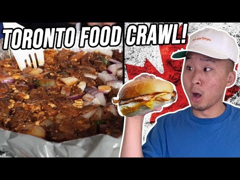 EATING FOOD FROM 10 COUNTRIES TOUR IN CANADA! - Toronto Food Crawl!