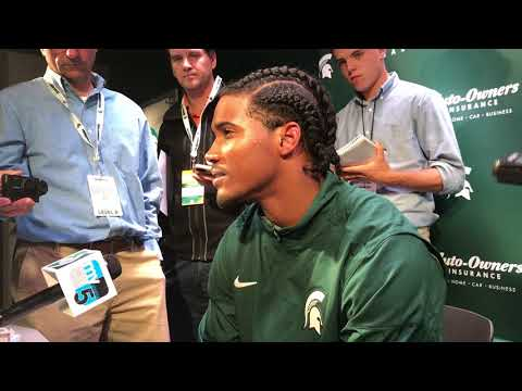 Michigan State CB Tyson Smith speaks about return from stroke, touchdown against Bowling Green