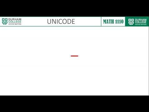 ASCII - EBCDIC - Unicode