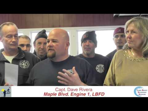 Long Beach Maple Blvd  Firehouse Honors Waterfront Warriors