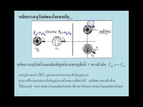 VDO 10 Momentum วิชา ฟิสิกส์1 040313005 มหาวิทยาลัยเทคโนโลยีพระจอมเกล้าพระนครเหนือ
