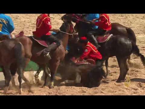 هذا الصباح-من قرغيزستان رياضة البولو من على ظهور الخيول  - 09:21-2017 / 4 / 28