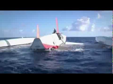 After Capsize Lionel Lemonchois 80 Maxi Catamaran Prince de Bretagne Is Towed to Rio