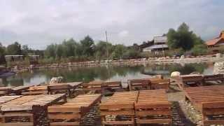 видео Солотвино база Дачія басейни віпочинок на солоних озерах у 3Д