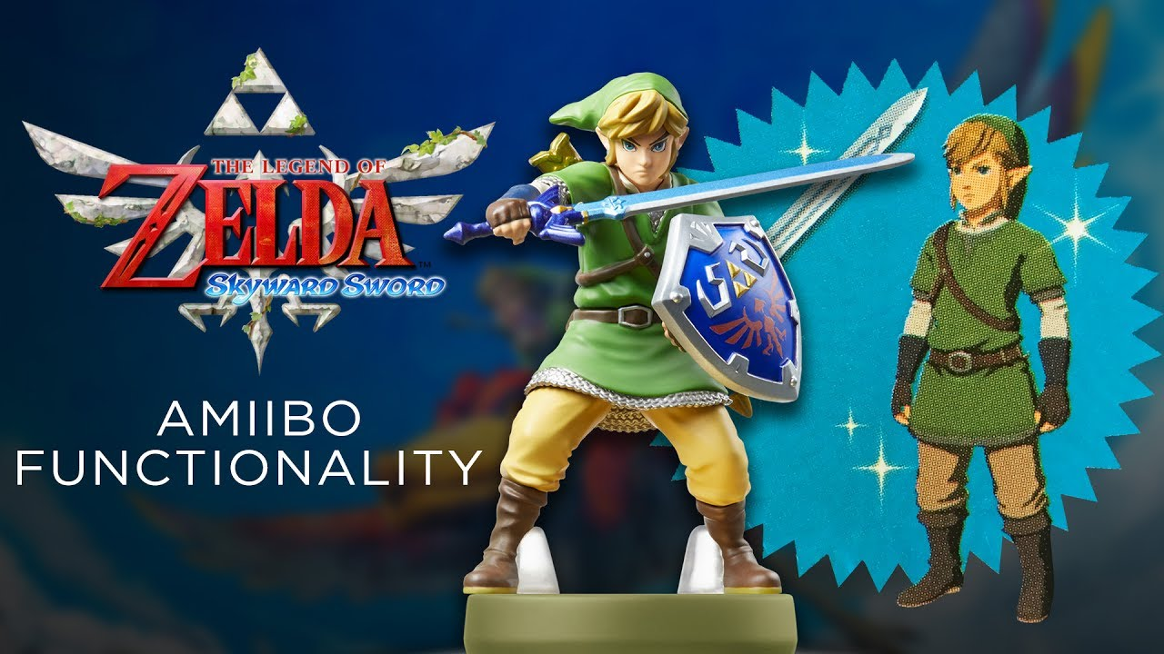 Skyward Sword Link amiibo Functionality in Breath of the Wild - YouTube