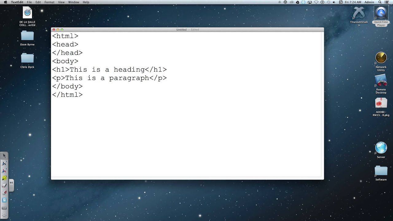 Textedit And Html Javascript On The Mac