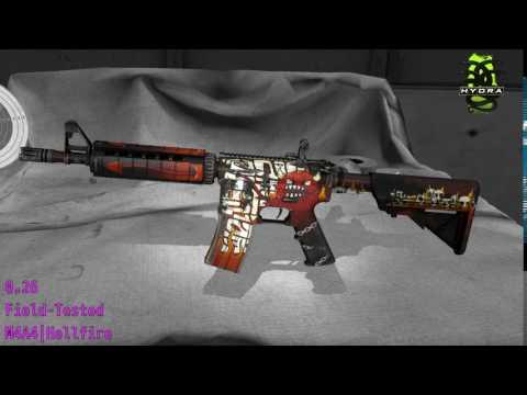 M4A4 Hellfire  Wear/Float