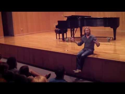 Eric Whitacre on Composition - University of West Florida (UWF Music Hall)