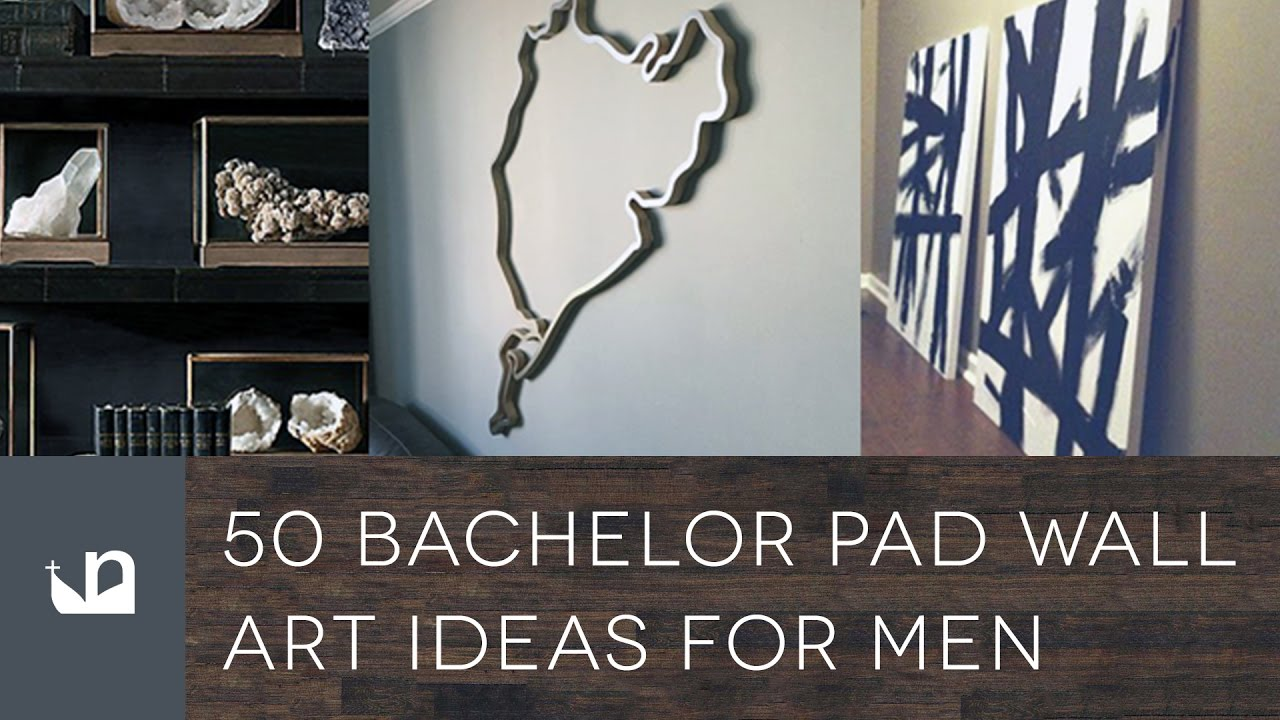 50 Bachelor Pad Wall Art Ideas For Men - YouTube