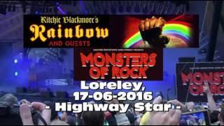 Monsters of Rock Loreley 2016 - Rainbow - Highway Star