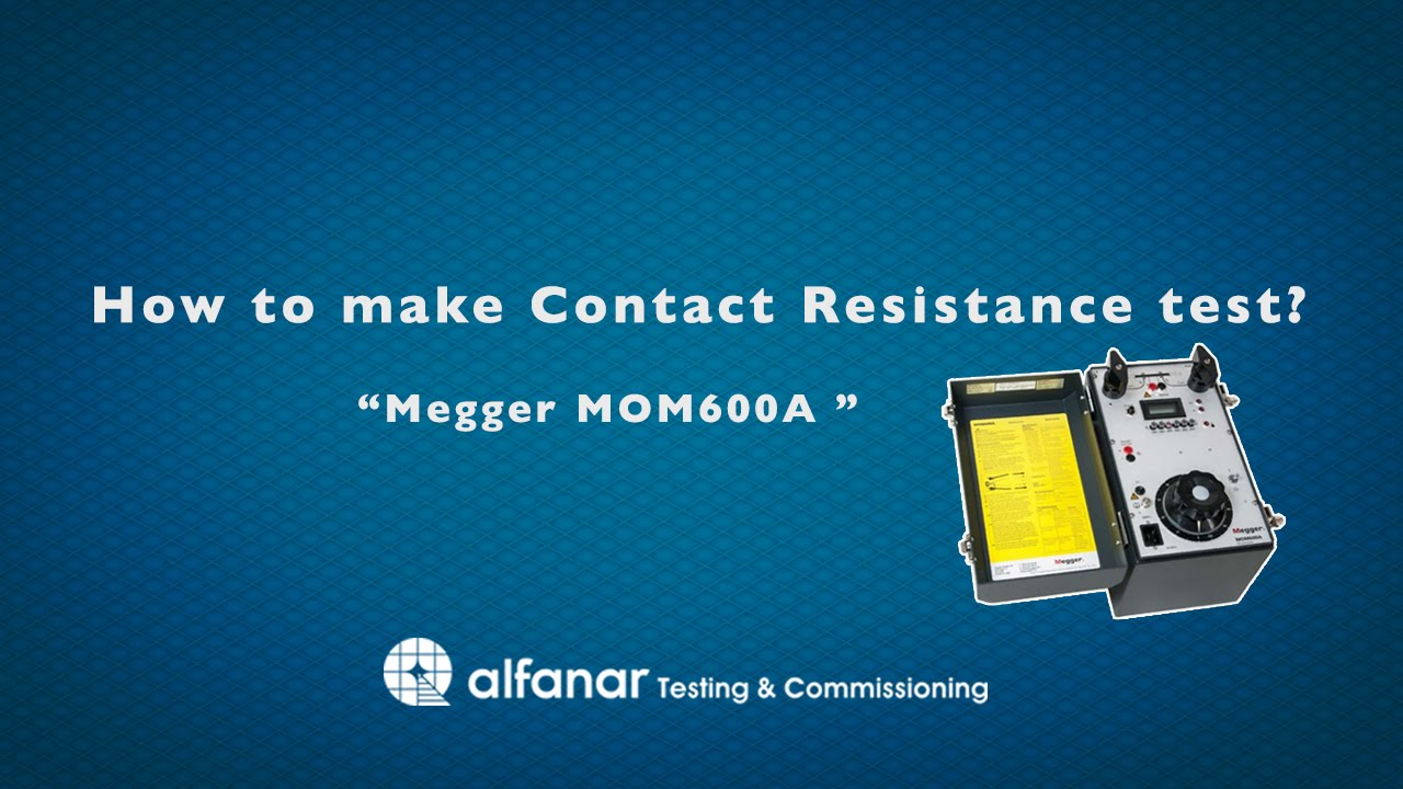 How to make Contact Resistance test ? - YouTube