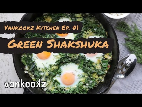How to Cook Healthy on the Road | Vankookz Kitchen Episode #1 - Green Shakshuka with Bacon Ends
