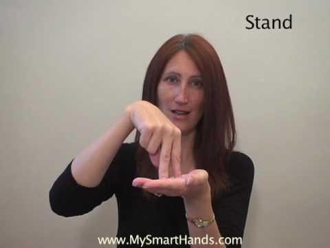 stand asl sign for stand youtube. Black Bedroom Furniture Sets. Home Design Ideas