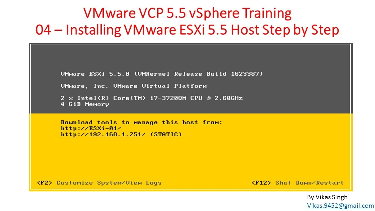 Vmware vcp 55 04 installing vmware esxi 5 5 host step by step vmware vcp 55 04 installing vmware esxi 5 5 host step by step xflitez Images