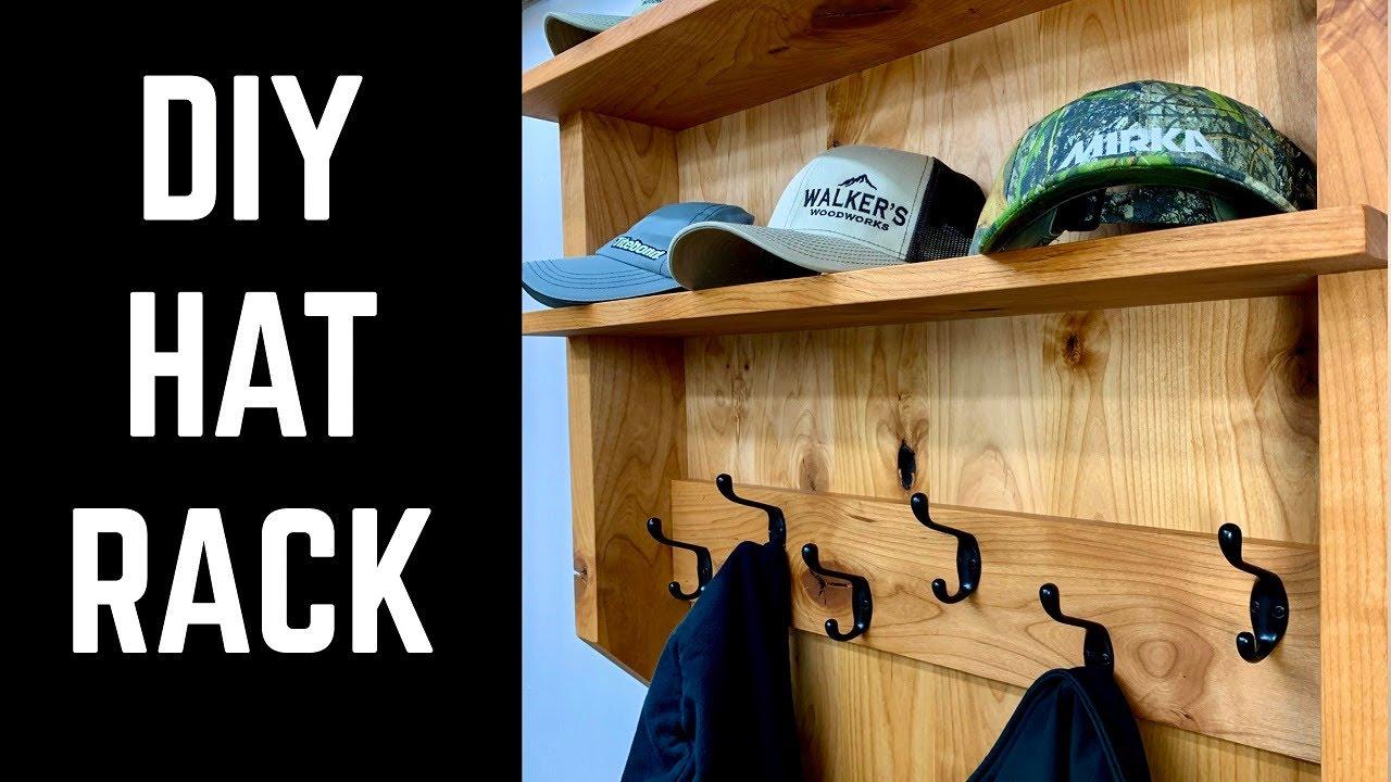 how to build a hat rack coat rack