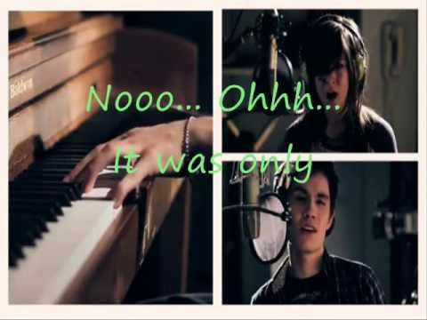 Just a dream - Christina Grimmie and Sam tsui - official lyrics ...