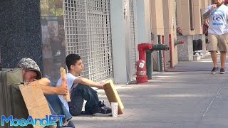 Repeat youtube video The Homeless Man VS Homeless Child! (Social Experiment)