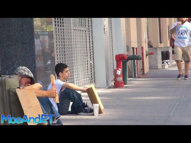 The Homeless Man VS Homeless Child! (Social Experiment)