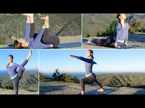 45 Min Vinyasa Yoga Workout w/ Elizabeth - HASfit Intermediate Yoga Exercises Routine