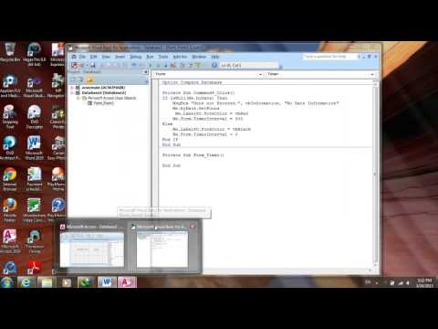 Making label or text flashing: MS Access 2010