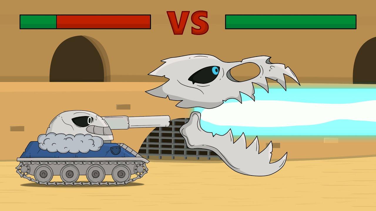 Побоище Мега танков, Мультики про танки