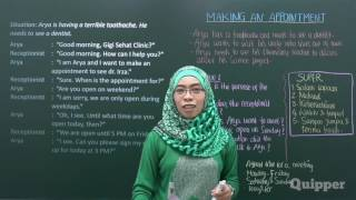 Quipper Video - Bahasa Inggris Kelas 10 - Making An Appointment