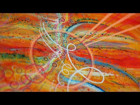 abstract painting inspired by music (pink floyd - time)