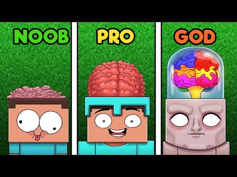 Minecraft - BRAIN CHALLENGE! (NOOB vs. PRO vs. GOD)