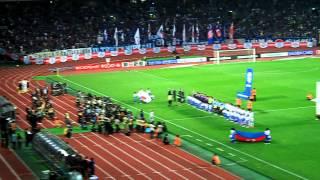 May 23, 2012. サッカー 日本-アゼルバイジャン 国家斉唱
