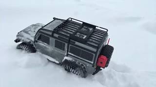 Traxxas TRX 4 First Run - Land Rover Defender in Snow - Netcruzer RC