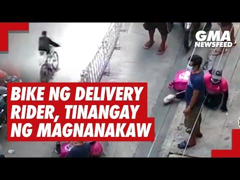Bike ng delivery rider, tinangay ng magnanakaw   GMA News Feed