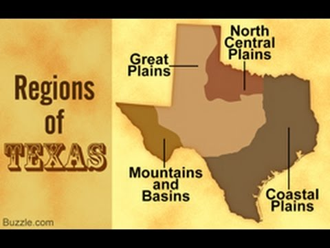 Information About the 4 Regions of Texas