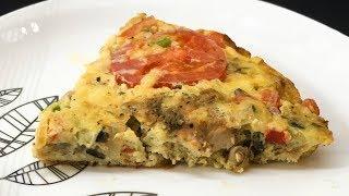 PIZZA OMELETTE - CHICKEN PIZZA OMELETTE - OMELETTE RECIPE - BREAKFAST RECIPE