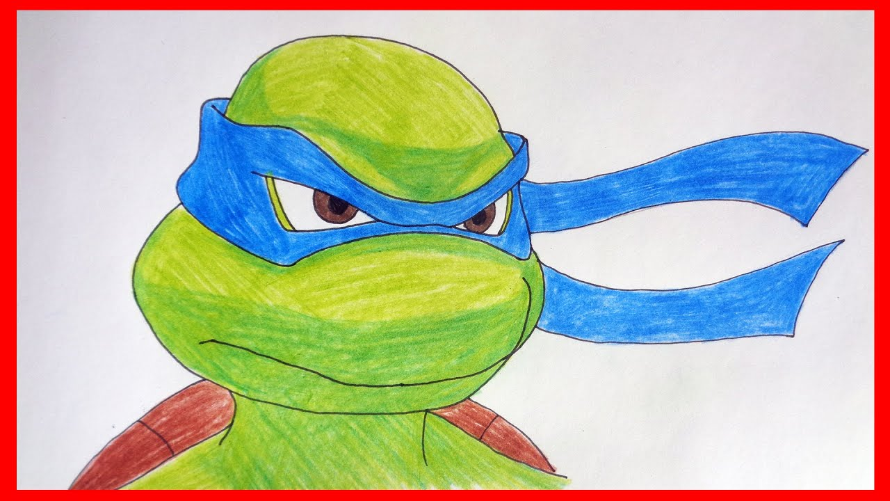 how to draw leonardo ninja turtles 2007 tmnt youtube