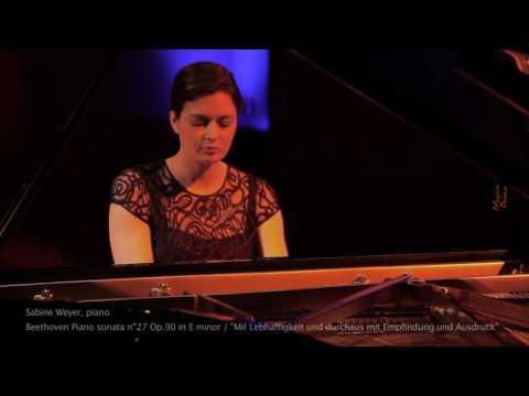 Sabine WEYER, piano - Beethoven piano sonata n°27  Mvmt 1 (excerpt)