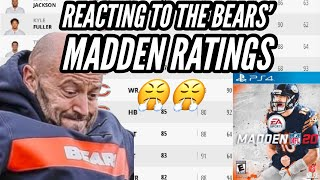 Reacting to the Bears' Madden Ratings 😤😤 || Chicago Bears News